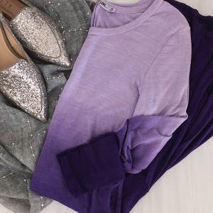 Lock & Love • Purple Ombré Dress With Flounce